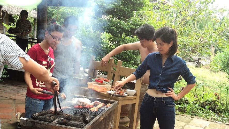 Tự nấu những món ăn ngon tại khu du lịch