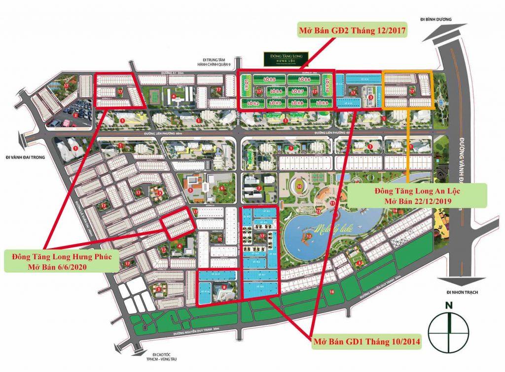 Các phân khu đã mở bán tại dự án đông tăng long quận 9