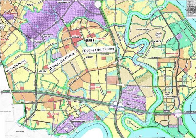 Bản đồ quy hoạch đường Liên Phường Quận 9