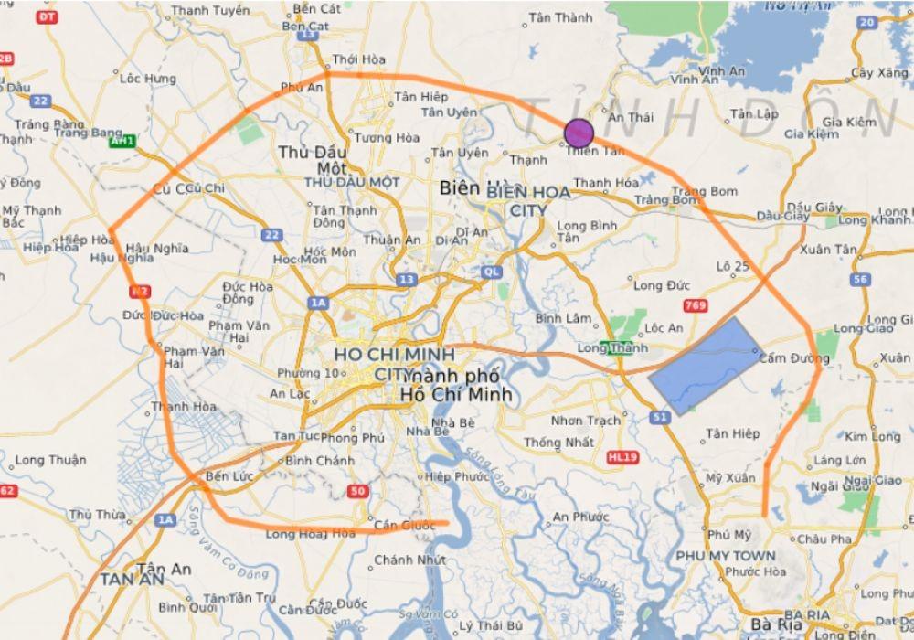 Bản đồ quy hoạch đường vành đai 4 tphcm